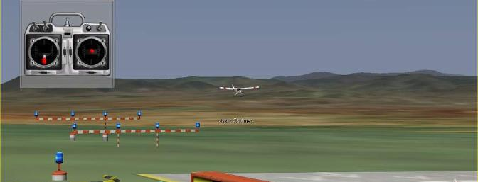 Here you also see the stick movement on final approach