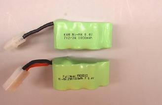 Two huge 1000 mAh NiMH batteries