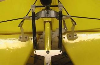 The tail wheel with control arms