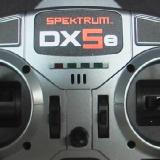 The DX5e DSM2 full-range transmitter.  Note the dual rate switch in the upper right position