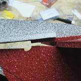The split easily glues back together.