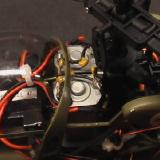 The two motors keep cool in the rotor draft.