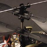 The main rotor head is plastic.