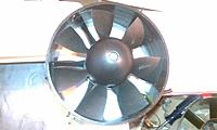 """Name: IMAG0002.jpg Views: 103 Size: 97.2 KB Description: Haoye 127mm fan with """"special"""" motor in maiden flight. Will get thrust\watt numbers later"""