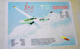 PG Gerasis FOX Sailplane 2030 mm kit, new in box.