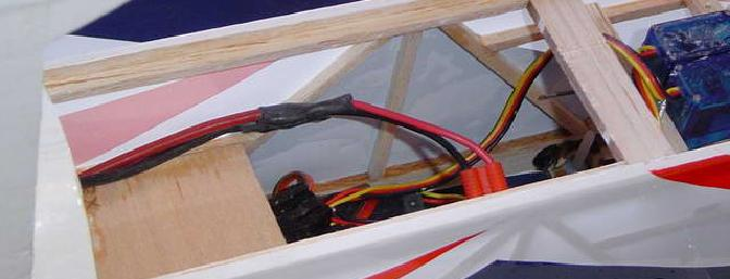 Top side of the receiver tray showing the large bay for batteries.