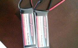 Two 2s thunder power lipos for 25 bucks