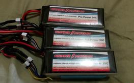 3x thunderpower 2700mah 6s 30c