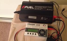 Icharger 206b and efuel 30 amps power supply