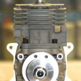 Front view: Notice the two holes in the rear of the hub assembly for the ignition pickup. This allows the module to compute and adjust timing.