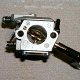 Rear of carb showing the throttle plate