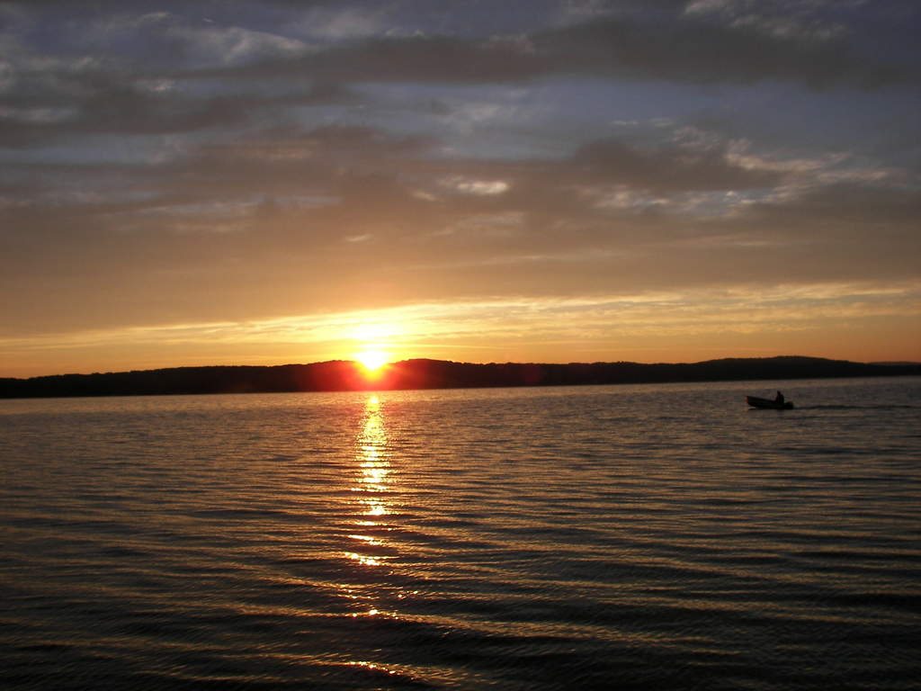 Sunrise on Platte Lake, just 11 miles from Empire Airport.