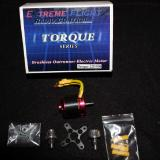 Torque 22T/930 (22 Turn, 930 Kv, Weight: 57g, 16 Amps sustained current, 85% Max efficiency, 3mm shaft diameter)