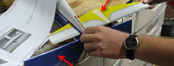 Be sure to put the elevator through its slot BEFORE gluing in the horizontal stab!