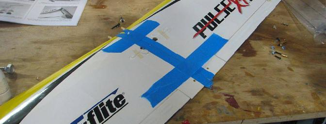Be careful gluing the wing together, and use 30-minute epoxy!