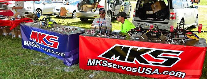 Thomas from MKS Servos USA had the wide range of MKS servos on display. These included the new X8's, as well as the new line of high voltage mini servos, the HV8767 cyclic servo, and the HV9780 tail servo.
