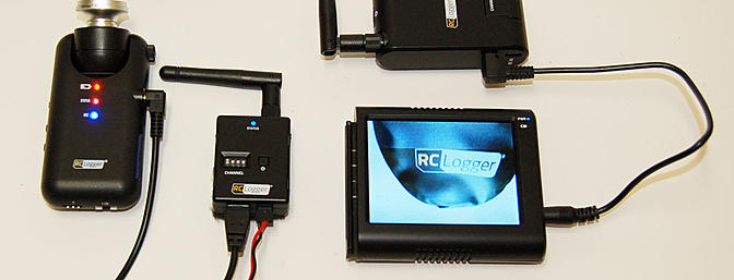 Here is the 5.8 GHz Video TX RX with the screen separated from the RX.