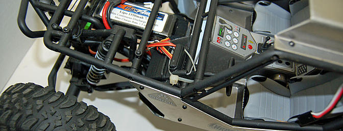 The battery has been moved to the front and the ESC to the rear.