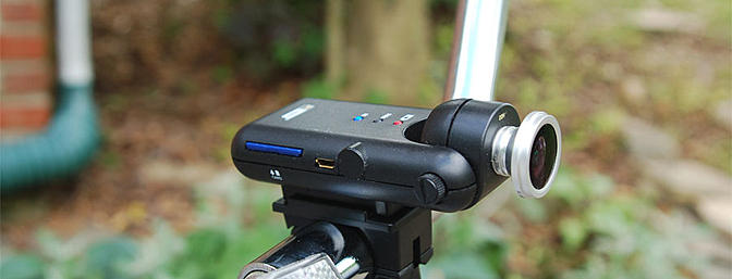 There is also a handle bar mount for your bike or motorcycle.