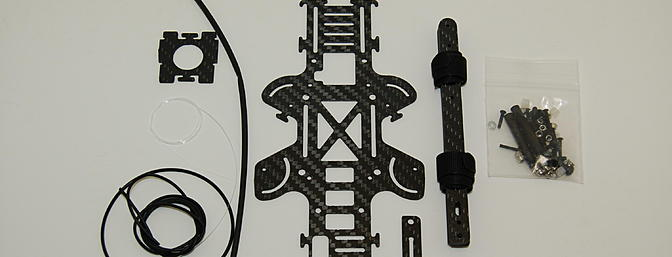 The frame kit includes everything shown. You do need an RC Logger Eye One Xtreme to get started.