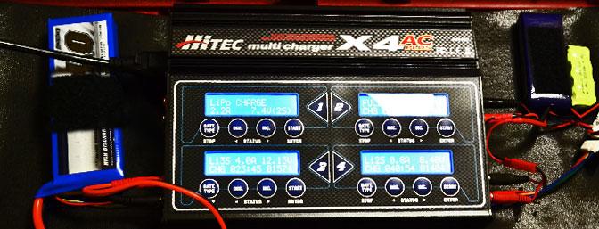 Hitec X4 AC Plus 4 Port AC/DC Multi-Charger