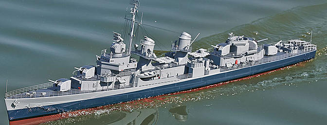1/72 Scale Fletcher-class Destroyer