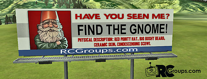 The RCGroups RF Field Hunt - Find the Gnome and Win!