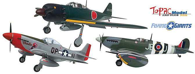 Three Giant Warbirds From Top RC Model
