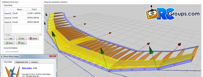Wing Helper 1.2.1 - 3D CAD Program for RC Airplanes Released