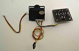 Here is the cable and menu board that comes with the EFFIO-V WDR mini cam.