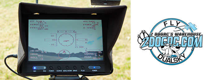 "2DogRC's 7"" FPV LCD Screen"