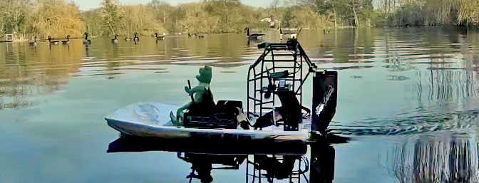 HK Swamp Dog Air Boat - Duck Hunt