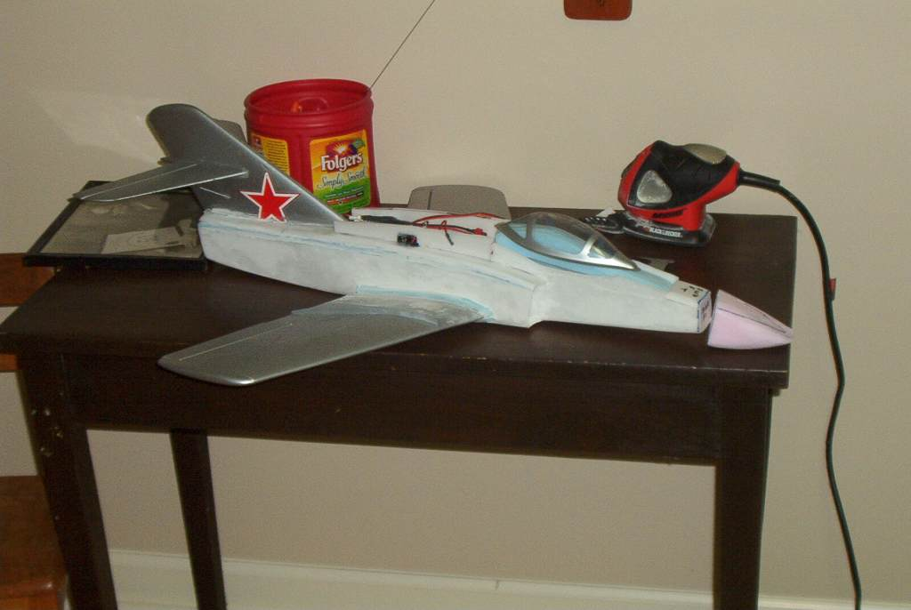 Bandit/Mig ready for sanding..coming along pretty well