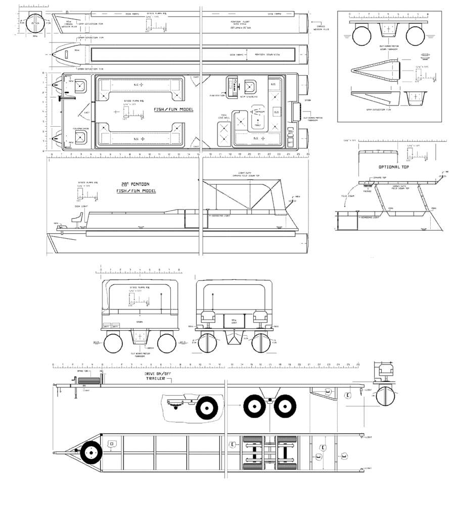 Pontoon Boat Drawing Pontoon boat ho-update 17