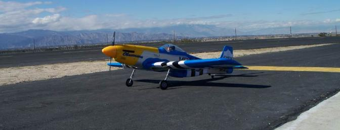 Once again, the San Jacinto Mountains provide the backdrop just prior to my first flight of the P-51.