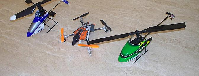 How small is the Nano?  Here it is in comparison to a couple of familiar models, namely a Blade mSR and a Heli-Max 1SQ.