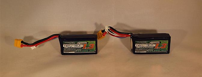 HobbyKing even sent along a couple of their Turnigy Nano-Tech batteries.