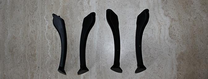 As quatro pernas de pouso individuais são agradáveis e resistente.