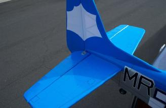 Top view of the completed tail section less the serial number decals.