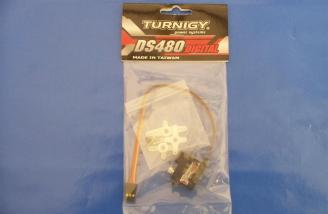 Attractively packaged with a generous hardware package, the Turnigy DS480 micro servo looks like it costs a lot more than around 25 bucks.