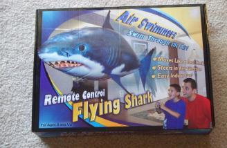 The odds are really good that you won't miss the shark on the hobby shop shelf.
