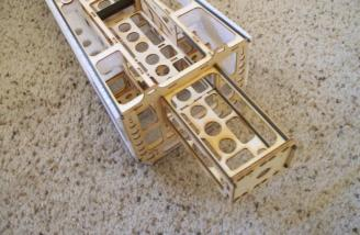 Another look at the cage.  There's a lot of room in the battery compartment and it's easily seen here.