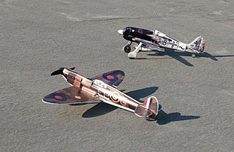 Another shot of both Microaces review subjects, both of which were taken by George Muir.  Note the black spinner on the Spitfire.