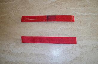 These were the hook-and-loop strips from the factory.