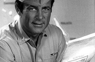 ...and his television counterpart, Robert Conrad.  (Photos:  Wikimedia Commons)