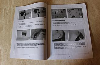 Here's an example of one of the pages in the manual.  The photos are nice and clear.