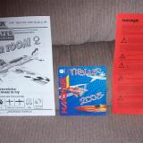 From left to right:  The instruction manual, a 2008 mini-catalog and safety warning.  This particular model actually came factory-direct from a delayed production run, so the catalog may have just been from a print overrun the factory throws into all their kits.