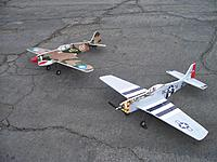 my rcd p40 and p51.JPG