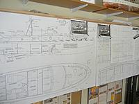 Name: DSCN3470.jpg Views: 67 Size: 687.5 KB Description: Dumas drawings enlarged to full model size to use as patterns for alterations to the Dauntless configurations
