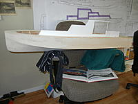 Name: DSCN3585.jpg Views: 25 Size: 746.8 KB Description: Here I'm trying to develop the right proportions for the various cabin structures using Dumas drawings blown up to actual model size.